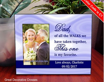Wedding Gifts for Dad - Father of the Bride Gift - Dad Wedding Gift from Bride-Gift for Dad from Daughter-Picture Frame Personalized, FWA010