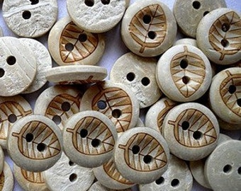 10pcs--2-Hole Buttons, Coconut Button,  13mm in diameter (B31-10)