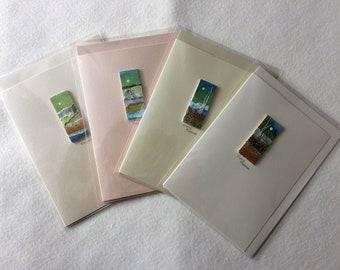 Pack of 4 Original Handmade cards by Yvonne Freeman