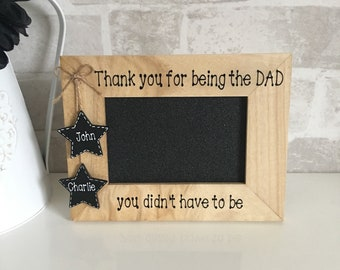 Father's Day gift, step dad gift, step dad frame, adoptive dad gift, Father's Day frame, dad gift, grandad gift, adoptive parent gift.
