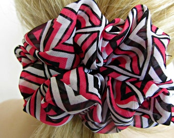 Day Glo Pink Ponytail Holders - #36