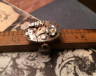 Watch movement steampunk ring handcrafted artisan jewelry