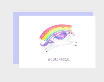 Instant Download, Printable Valentine, Funny Valentine Card, Unicorn Valentine, Cute Valentine, You are Magical, Magical Unicorn Valentine