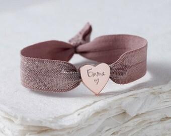 Personalised Rose Gold Heart Bracelet,Personalised Bracelet, Personalised Jewellery, Bracelet, Rose gold bracelet, Women's jewellery,