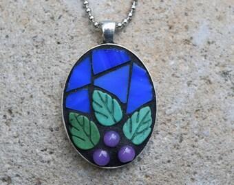 Mosaic Pendant ~ Mosaic Jewelry ~ Mixed Media Mosaic ~ Mosaic gift
