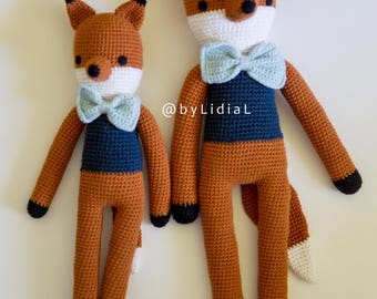 Crochet Fox Stuffed Animal Toy