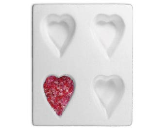 Heart Pendant Pod Mold  for Glass Fusing Slumping in Kiln***New in Box***