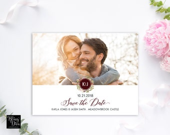 Mod Monogram Save the Date Custom Printable