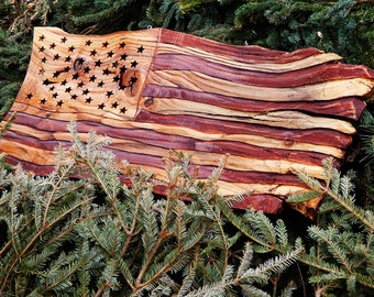 Patriotic Hand Made & Painted American Flags