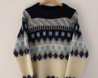 Vintage Norwegian Sweater Unisex 100% Wool