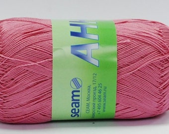 Crochet thread size 10, mercerized cotton, ANNA, 100g/ 579 yds #317 pink