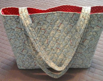 New!!  Nurses hats quilted tote bag.