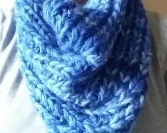 Blue Chunky Cowl