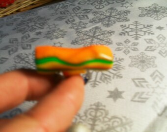 trendy, stylish, original ring (yellow, green, orange)