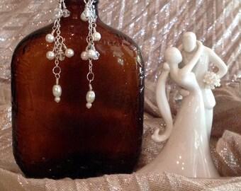 Pearls & Chain Earrings