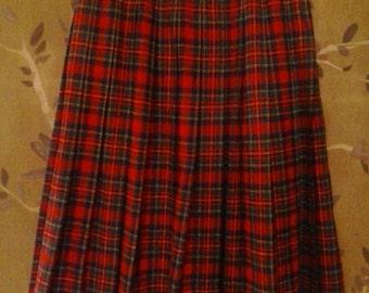 Pendleton tartan wool skirt, Prince Charles Edward Stewart tartan