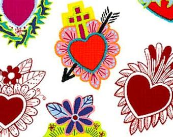 Corazones Primavera Alexander Henry Cotton Fabric