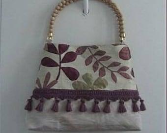 Wooden Handle Handbag 1