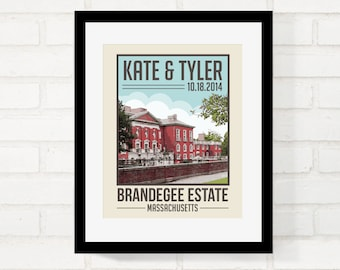 Destination Wedding Personalized Gift Travel Poster First Anniversary Gift, Travel Wall Art, Home Decor - USE YOUR PHOTO - Art Print