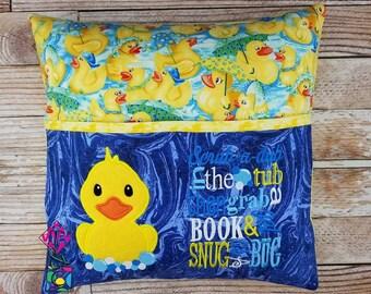 Duck Bundle Storybook Pillow Designs - 5x7 Design - INCLUDES 2 DIGITAL DESIGNS - Duck Applique - Duck Scrub a Dub - Pocket Pillow Designs