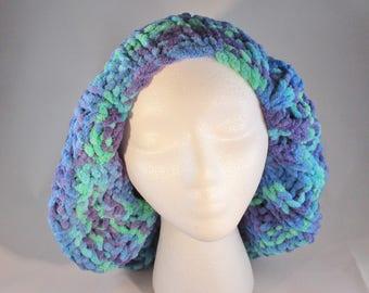 Slouch hat, handknit