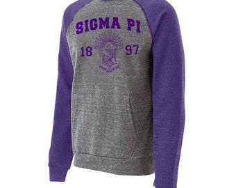 Sigma Pi Roster Crewneck (purple text)