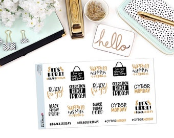 BLACK FRIDAY Paper Planner Stickers
