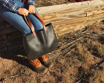 Schlanke Leder Dokument Tasche Ledereinkaufstasche