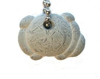 DVH Fairy Stone Concretion Bead Faerie Quebec 30x39x12mm (9743)
