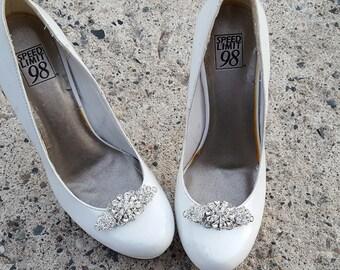 Wedding Shoe Clips, Vintage Style Shoe Clips, Bridal Shoe Clips,  Rhinestone Shoe Clips, Shoe CLips for Bridal Shoes, Wedding Shoes