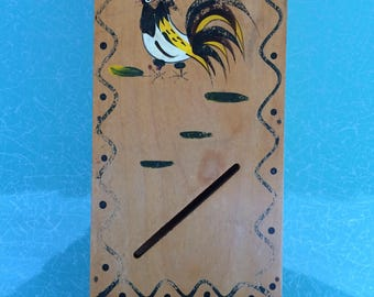 Woodpecker Woodware Japan vintage wall hung match holder rooster
