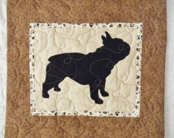 French Bulldog - Quilted Dog throw pillow 16 inches