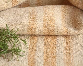 FP 336 A : Grain Sack, antique, GOLDEN CARAMEL, style, organic, pillow, benchcushion, 40.94 long, wedding decoration, old linen, gogmuljalu