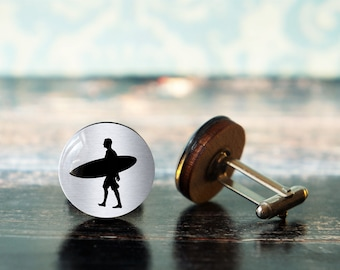 surfer gifts , gift for surfer , surfing cufflinks , sports cufflinks