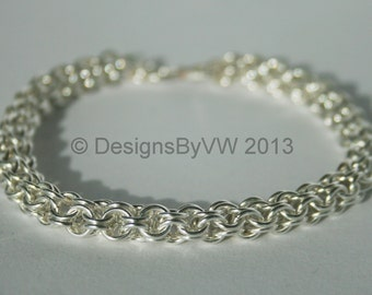 Silver Plate Chainmaille Bracelet