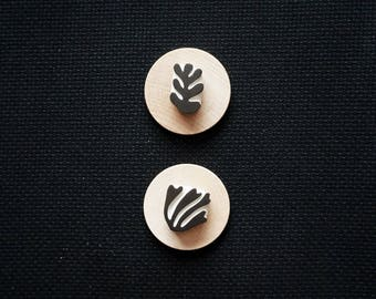 Matisse Cut Outs - 02 - Set of Two Hand-Carved Rubber Stamps