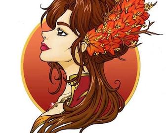 Autumn- Season original illustration series
