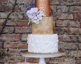 """White metal cake stand / white cake stand /  12"""" cake stand / cake stand / wedding cake stand / pedestal cake stand"""
