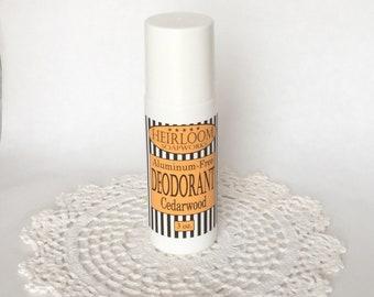 Cedarwood Deodorant | MOM Deodorant | Aluminum-Free Deodorant | Vegan Deodorant | Heirloom Deodorant