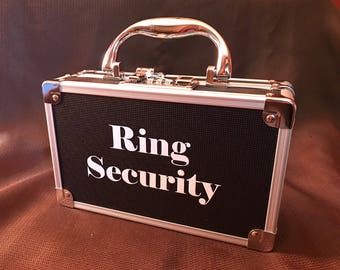 Ring Security Case, Ring Bearer Box for Wedding, Ring Security Lock Box