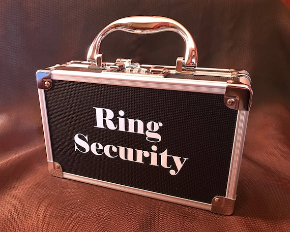 Ring Security Case Ring Bearer Box for Wedding Ring Security