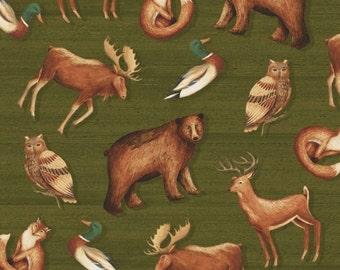 Windham Wild Woods Multi Animal Scenic 1/2 Yard Fabric for Quilting 41120