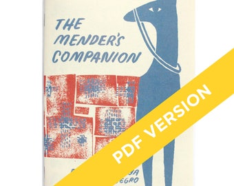 PDF download: The Mender's Companion, Sewing Zine, How-to Mend Book, Mending Tutorial