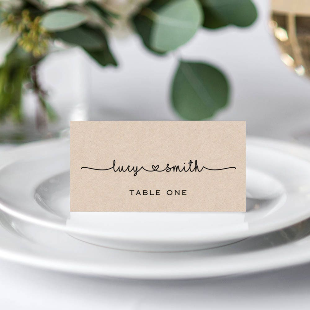 It is a picture of Accomplished Printable Escort Cards