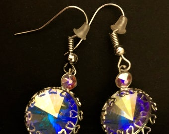 Genuine Swarovski crystals set in silver
