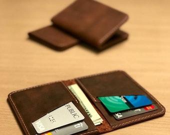 Wallet•Leather Wallet•Personalized Leather Wallet•Front Pocket Slim Design•Minimalist Credit Card Wallet•Mens Leather Wallets