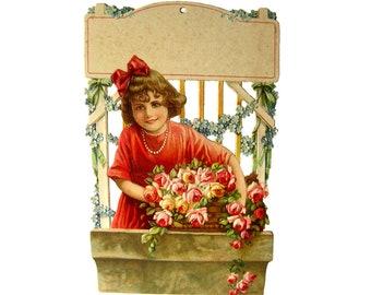 Die Cut Art For Salesman Sample Calendar, Vintage Art Print, Advertising Art, Vintage Ephemera Calendar Artwork, Mothers Day Gift, Print Art