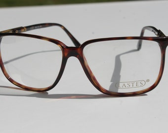 vintage LASTES M7079 56-14 140 brown tortoise eye / sunglasses frames made in Italy New