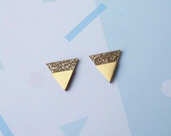 Geometric Triangle Earrings - Triangle Earrings - Gold Earrings - Minimalist Jewellery - Statement Earrings - Geometric Jewellery