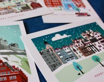 Edinburgh postcards pack of 4 scottish thank you cards edinburgh christmas postcards pack of 4 scottish cards hogmanay scottish travel scotland greetings party invitations m4hsunfo